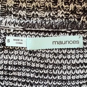 Maurices Dresses - Maurices Sweater Dress Chevron Black Women Small